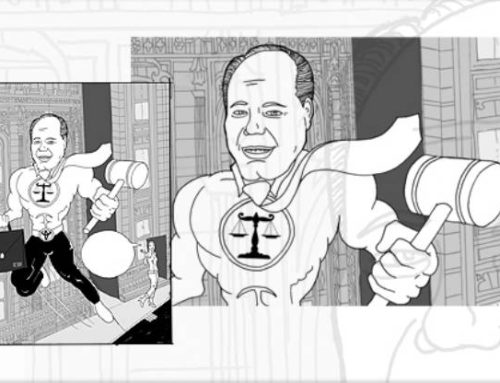 Super Lawyer Illustration